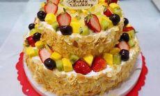 巴黎工坊天然水果夹心蛋糕