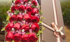 爱慕鲜花19朵玫瑰花束礼盒