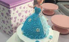 DIY双层8英寸芭比娃蛋糕