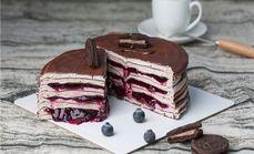 千层蛋糕巧克力蛋糕6英寸