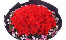 爱慕鲜花33朵玫瑰花束