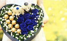 520鲜花蓝色妖姬节日礼盒