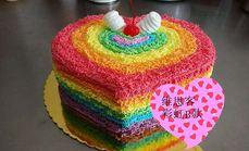 维思客12寸彩虹蛋糕