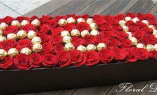 花香袭人白玫瑰礼盒造型套餐
