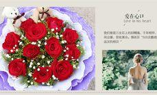 霞光园艺11枝玫瑰套餐