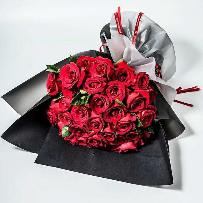 33朵玫瑰精品韩式鲜花花束