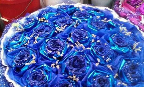 仅售288元,价值598元21朵蓝色妖姬花束!节假日通用!