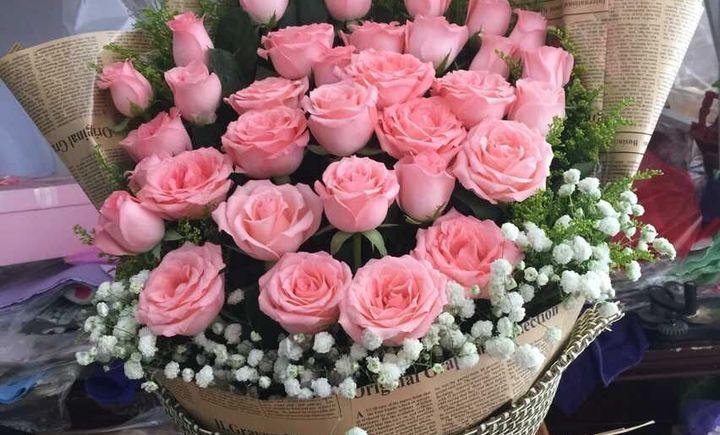 【莉语鲜花盆景婚庆团购】_33朵戴安娜玫瑰花束_百度图片