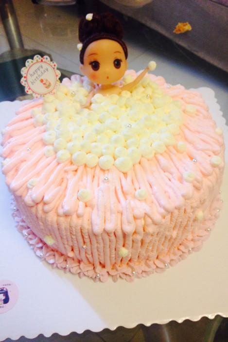 芭比娃娃蛋糕10寸图片