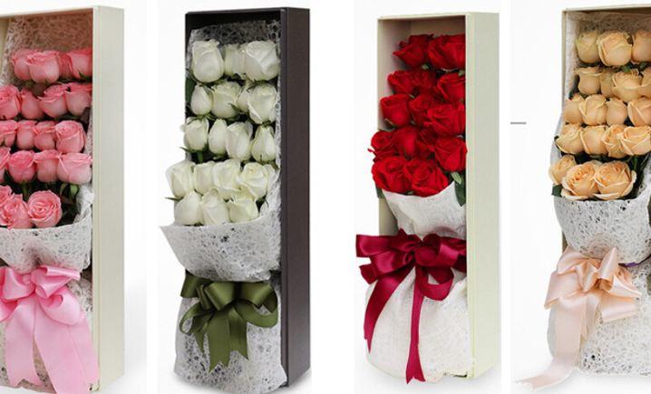 仅售139元,价值258元19朵玫瑰高档礼盒套餐!请至少提前24小时预约!