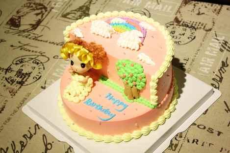闺蜜家彩虹芭比创意蛋糕图片
