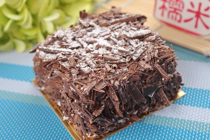 黑森林切块蛋糕图片