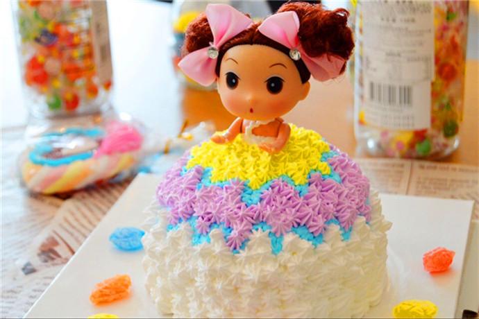 大芭比娃娃蛋糕图片