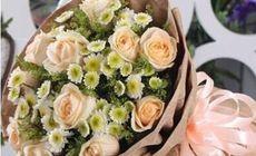 花语128元玫瑰花束