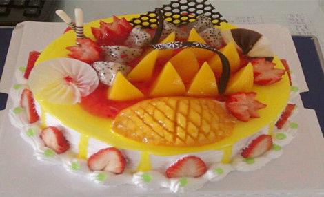 喜庆生日蛋糕 - 大图