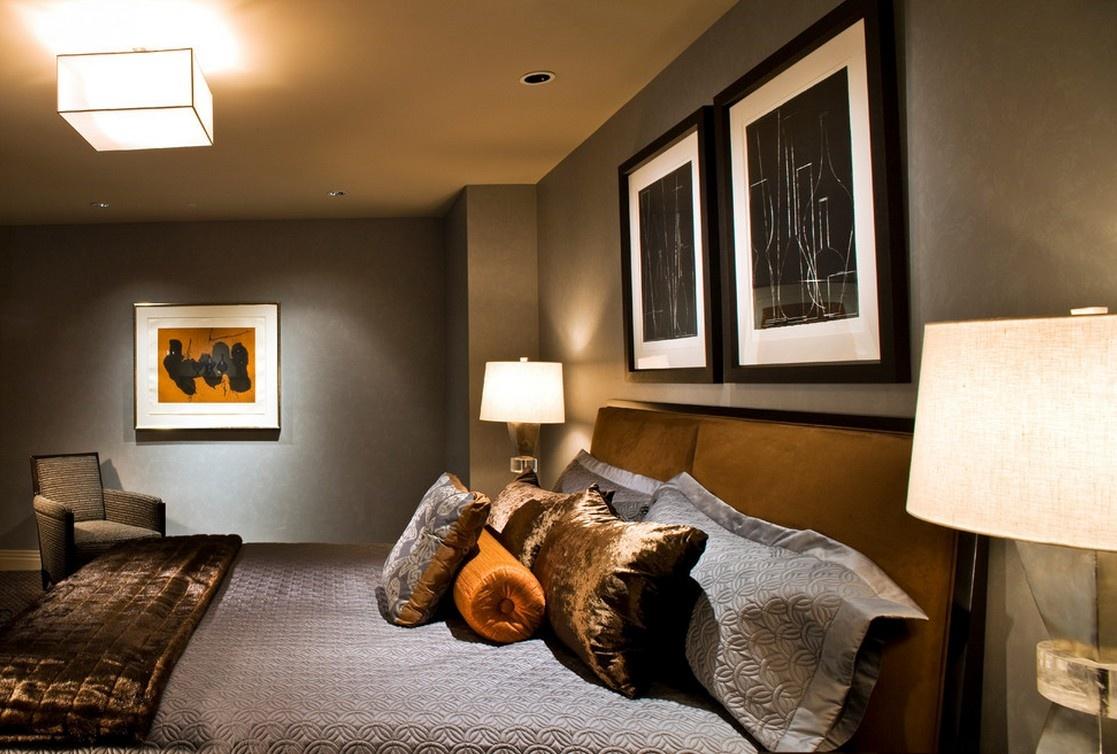 2012美式风格卧室背景墙装修效果图图片