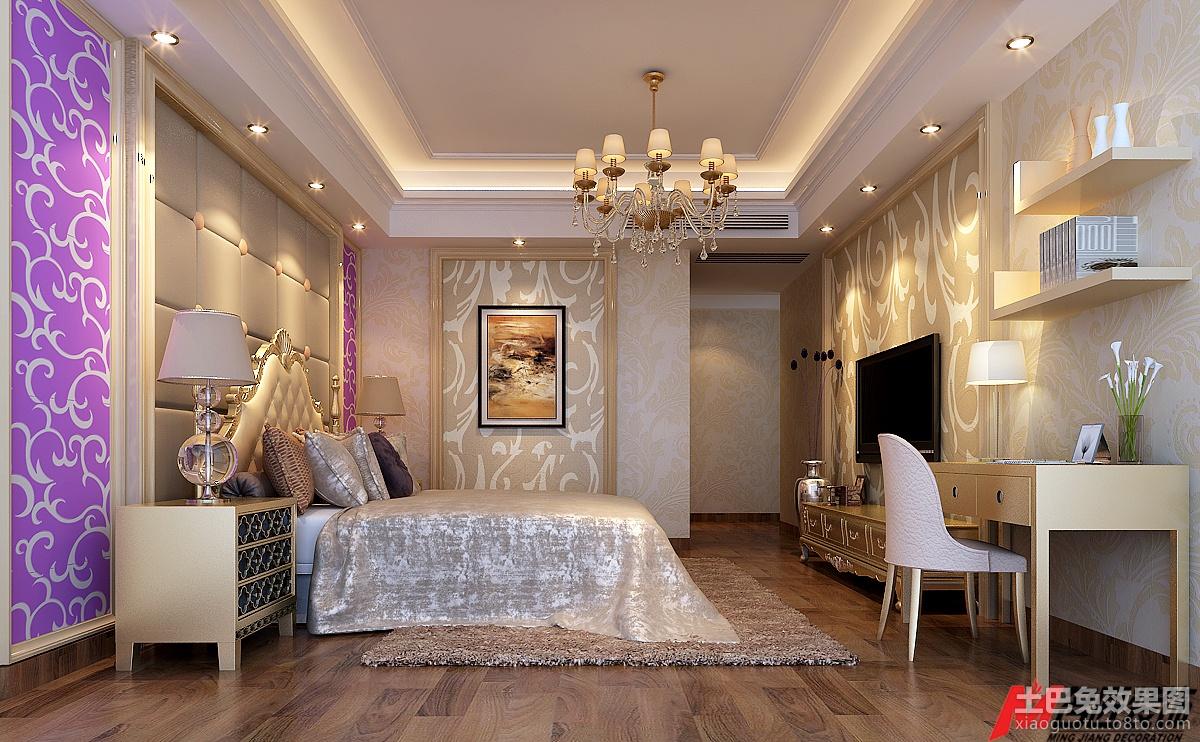 欧式风格主卧室效果图图片