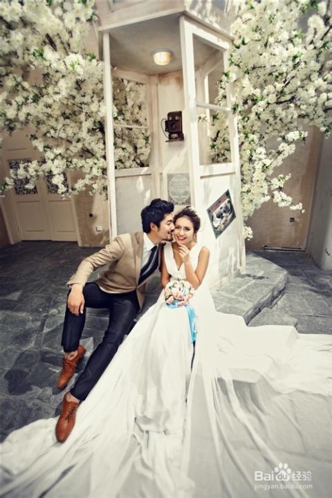 最流行的婚纱照的风格