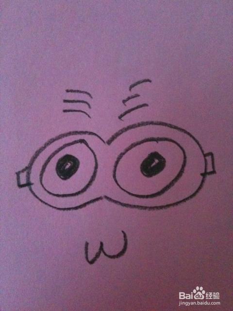 小黄人卡通简笔画_彩色猴子卡通简笔画_猴子卡通简