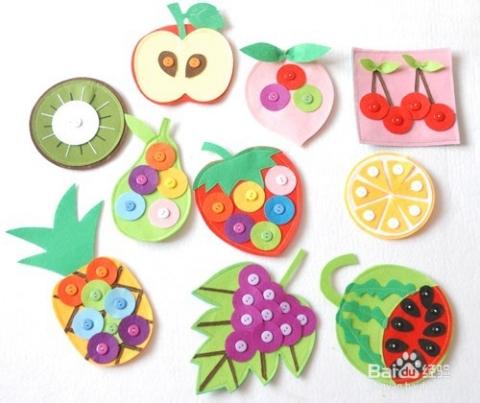 幼儿园数学区自制手工玩教具 水果套餐