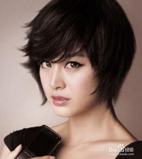 韩国女明星短发发型图片