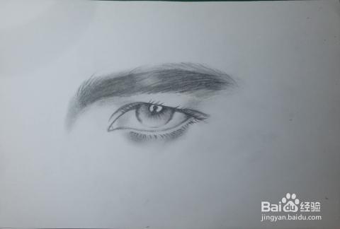 铅笔画——的眼睛