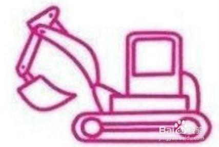简笔画大全 铲车和挖土机绘制方法
