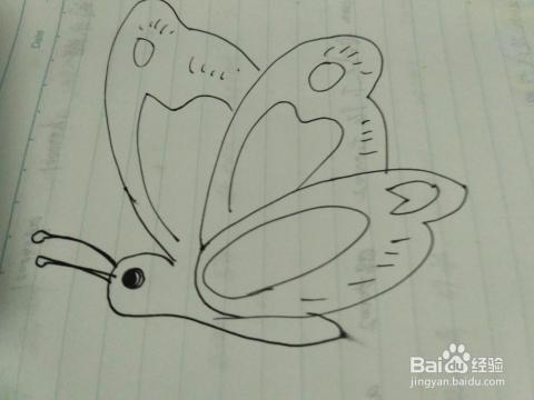 儿童简笔画之蝴蝶的画法图片