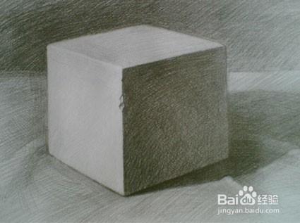 素描石膏几何形体画法 一 正方体的步骤图片