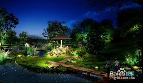 亚彩园林景观照明设计中的注意要点图片