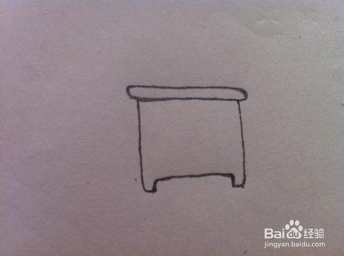 床头柜怎么画 简笔画