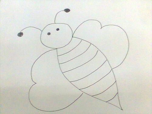 教你几笔画出Q版小蜜蜂