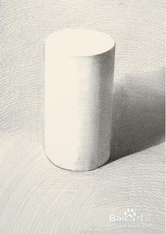 素描石膏几何形体画法 四 圆柱体的步骤图片
