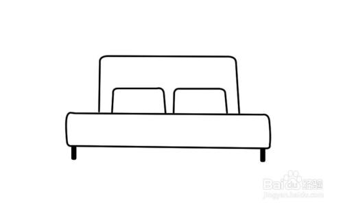 PS怎么画床简笔画
