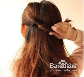 扎头发技巧之简单韩式编发图片