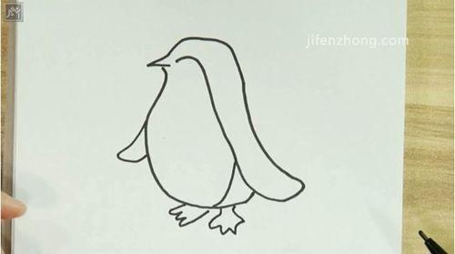简笔画之如何画企鹅3