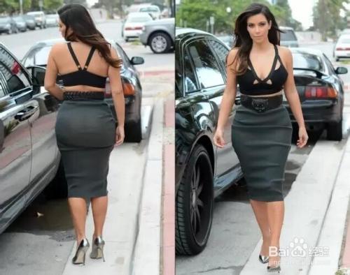 美女 大屁股如何穿出紧身裙效果
