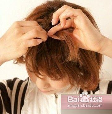 短发刘海编发图解教程教你短发怎么扎好看图片