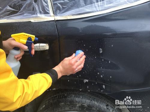 汽车美容 专业封釉流程高清图片