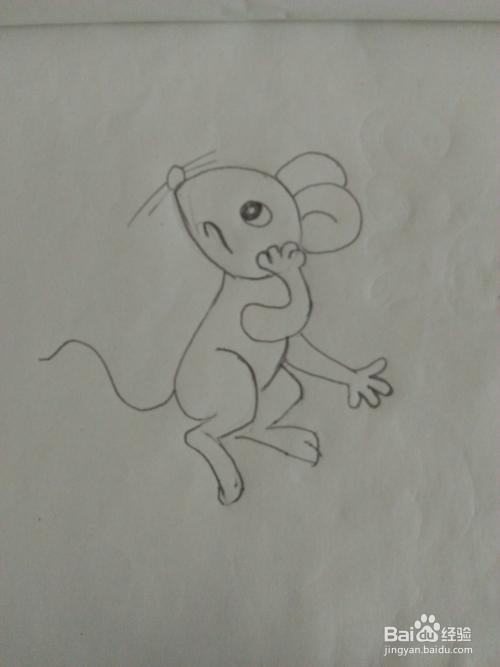 怎么画简笔画小老鼠