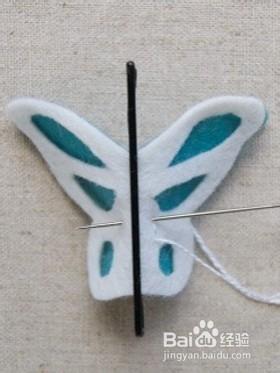 如何制作立体蝴蝶发夹图片