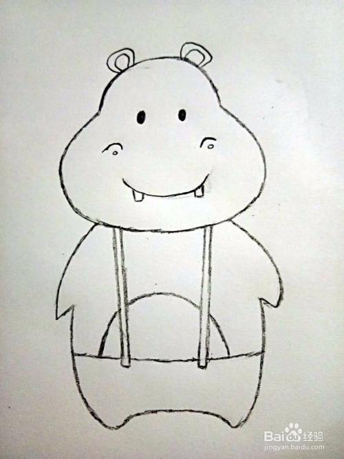 如何教宝宝画简笔画河马图片