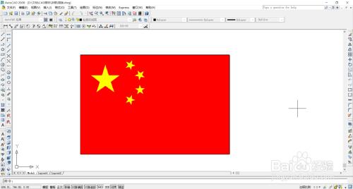 如何用autocad绘制五星红旗图片