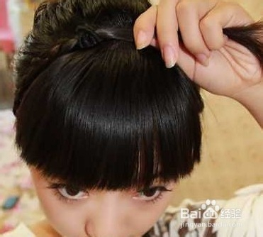 儿童盘发发型扎法图片