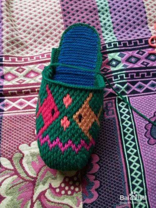 手工钩织毛线拖鞋 编织手工拖鞋 拖鞋图案图片