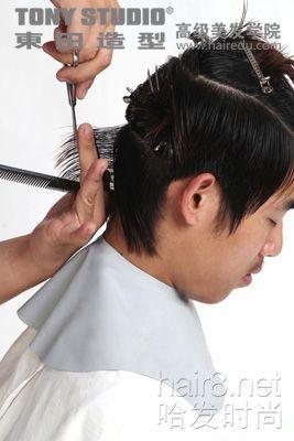 怎样diy一款英伦风潮的男生发型图片
