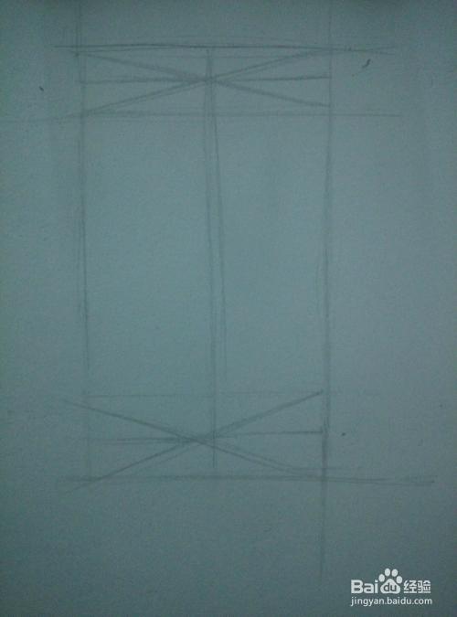 素描的圆柱的基本构图图片