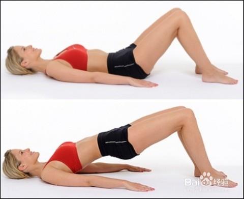6 蚌式 15次*2组 侧卧后弯曲双腿,保持骨盆稳定单侧腿开合,感受臀部肌图片