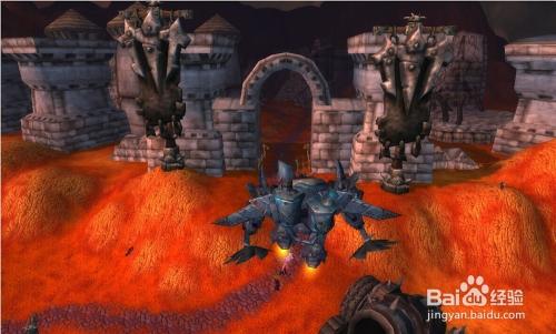 2 飞至诅咒之地的守望堡. 3 飞进守望堡大门.