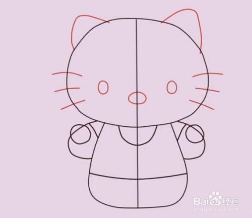 教你怎么画hello kitty 猫
